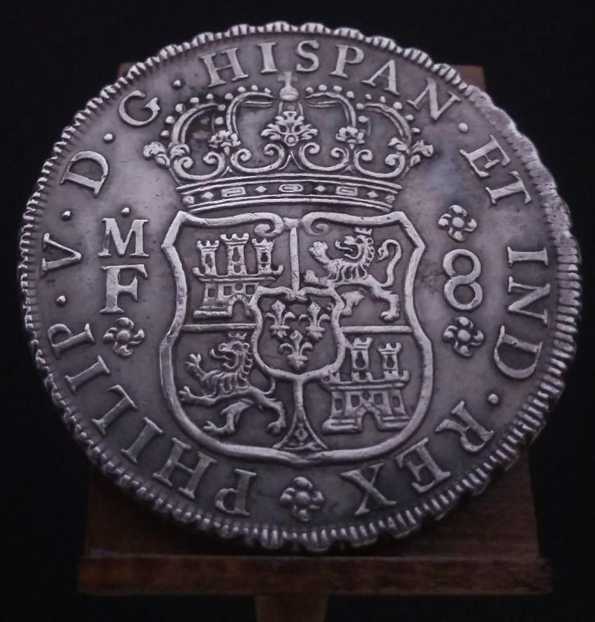 Real de a 8 columnario, 1734, ceca de México. 16116712
