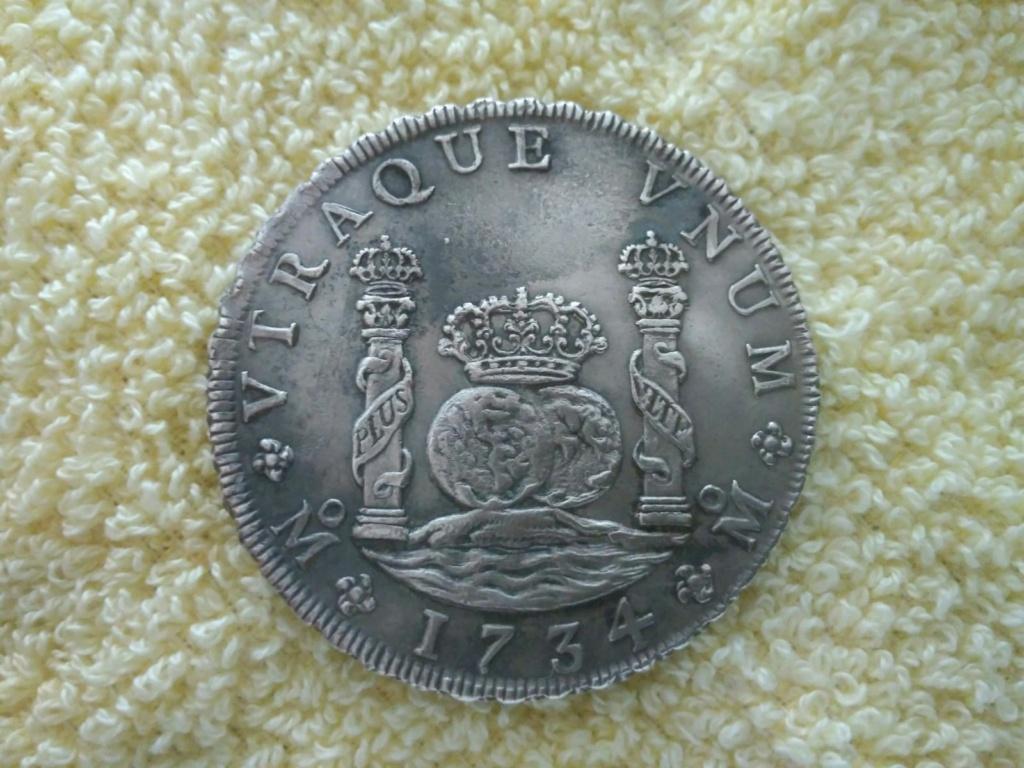 Real de a 8 columnario, 1734, ceca de México. 16116714