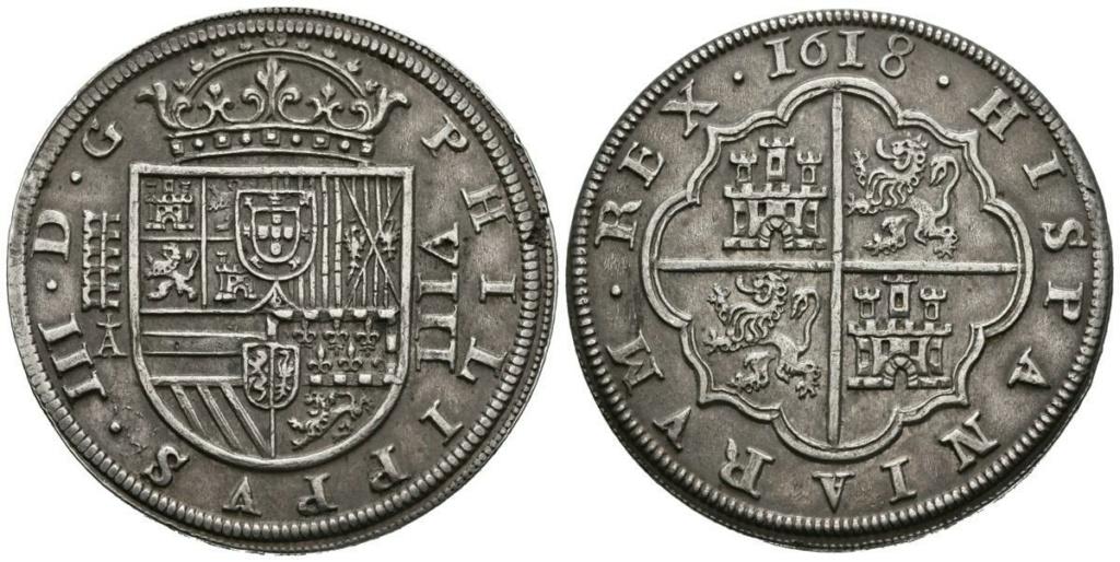 8 Reales del Real Ingenio de Segovia de 1618 Felipe10