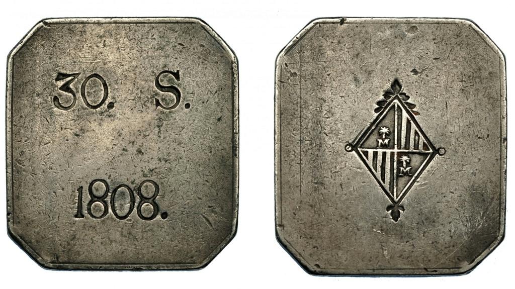 30 Sous octogonales sin FER VII, 1808, Mallorca. Jeszs_10