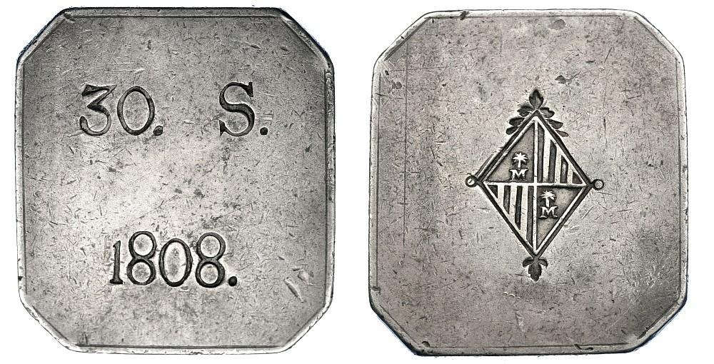 30 Sous octogonales sin FER VII, 1808, Mallorca. Jeszs_11