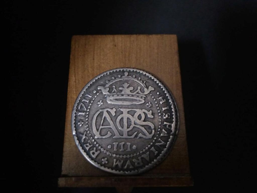 2 Reales de Carlos el Pretendiente, Barcelona, 1711 Proce10
