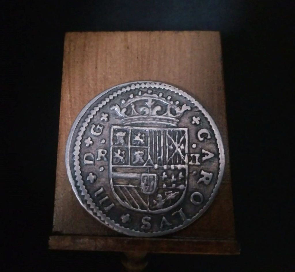 2 Reales de Carlos el Pretendiente, Barcelona, 1711 Proces10