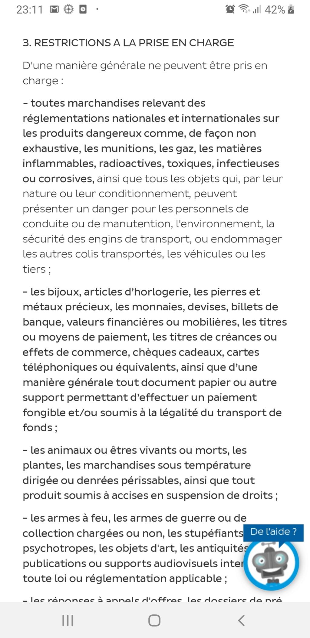 Nouveauté sur la Valeur Déclarée (La Poste) Screen16