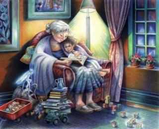 Grand-mère apparaît à la fenêtre Grand-11