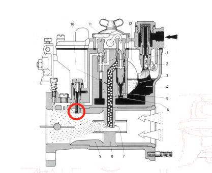Fuite essence carburateur jonction boite à air spider 74 Captur15