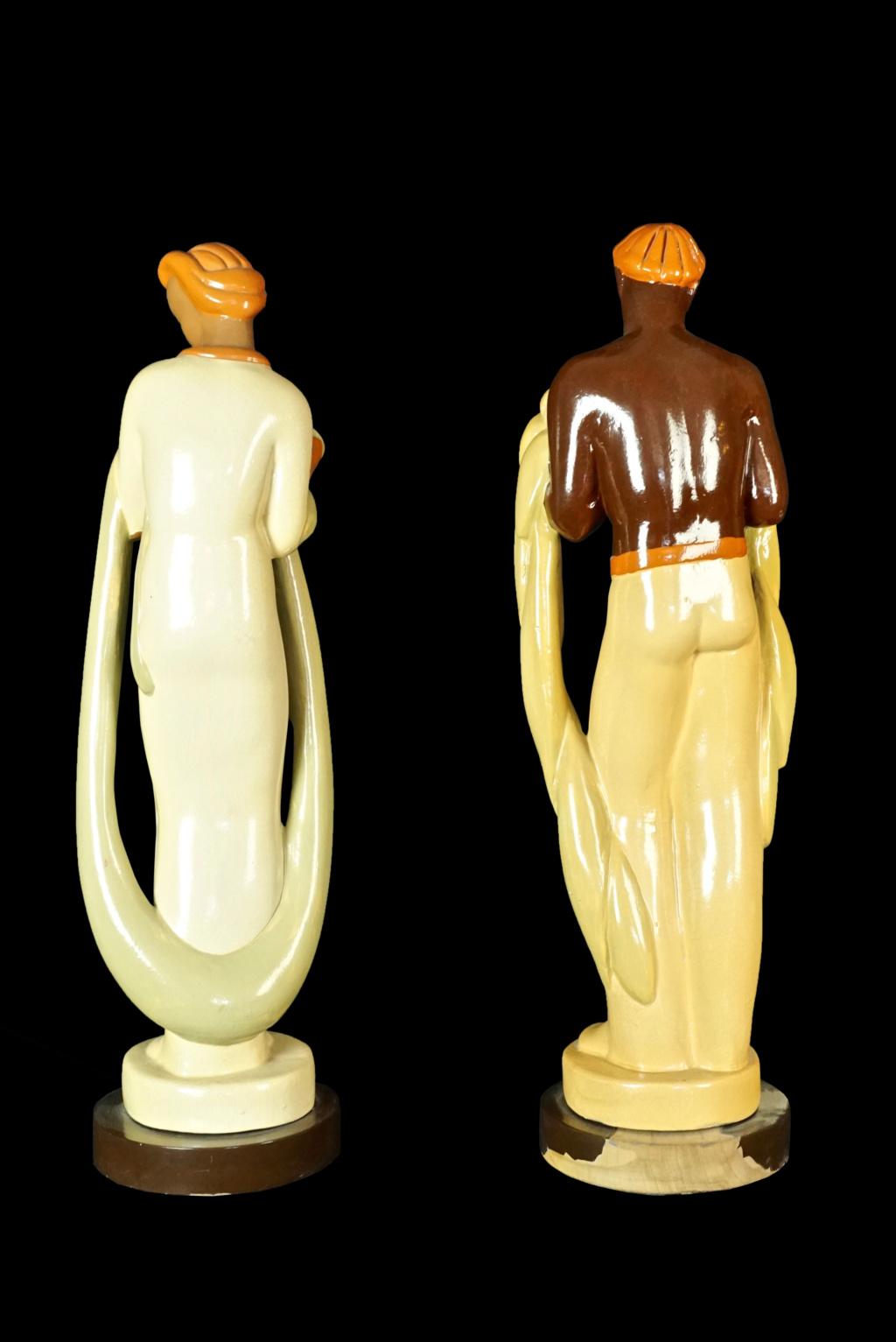 Pair of Pottery/Terra Cotta Figures Dsc04316