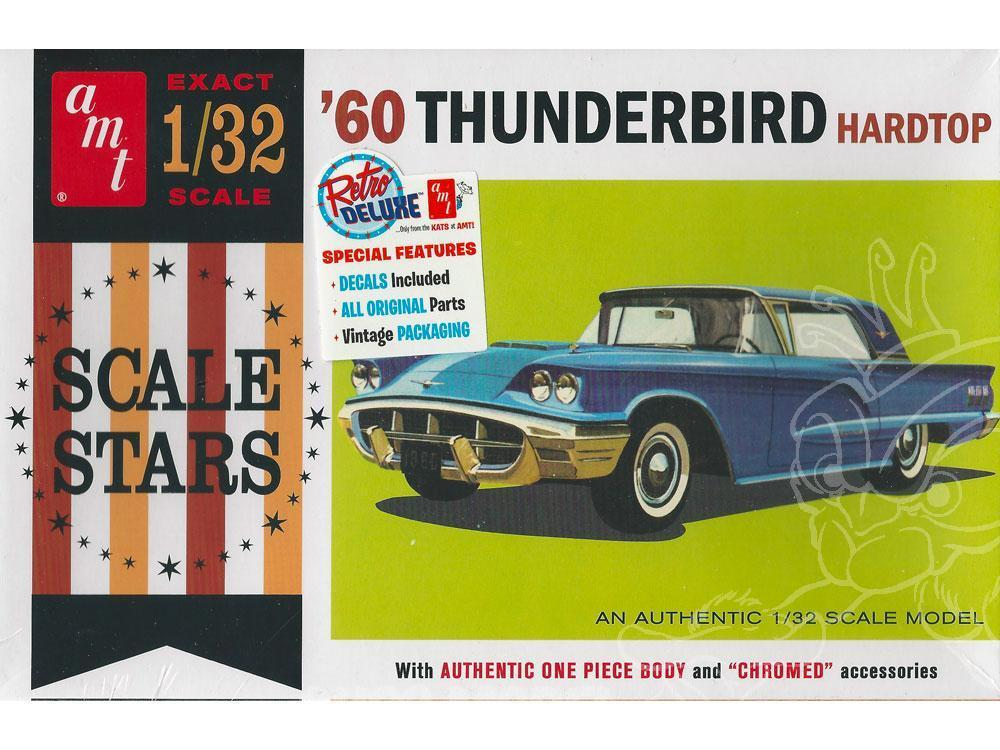ouvre boite AMT maquette voiture 1135 1960 Ford Thunderbird 1/32 Amt-ma10