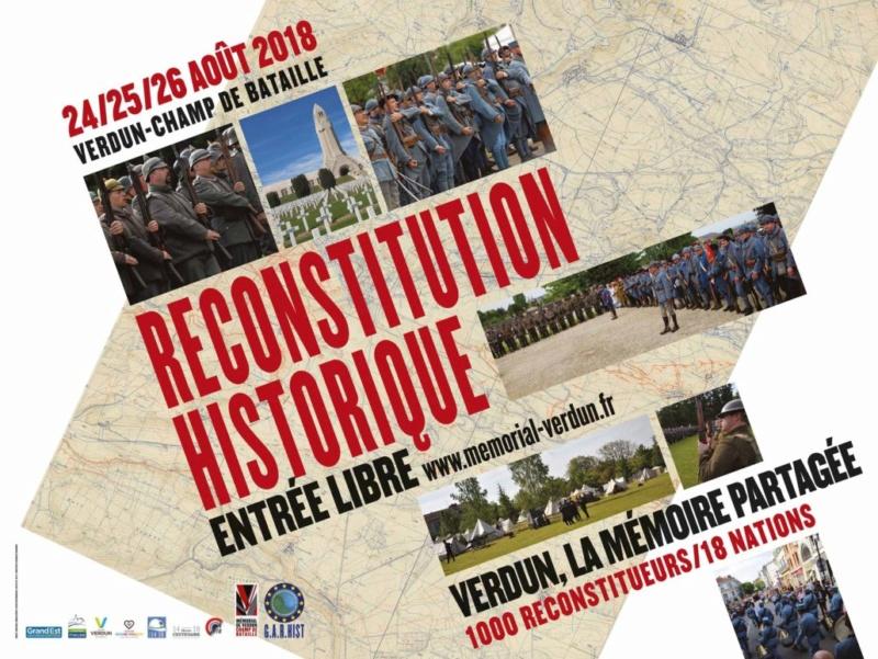 centenaire de la grande guerre Verdun 2018 en août Banier10