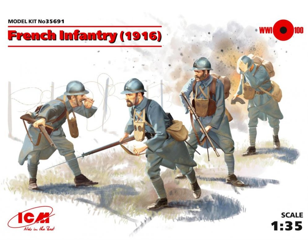 "1916 - L' enfer de VERDUN -[ICM] 35691 French infantery (1916)1/35 ""FIN"" Icm-ma10"