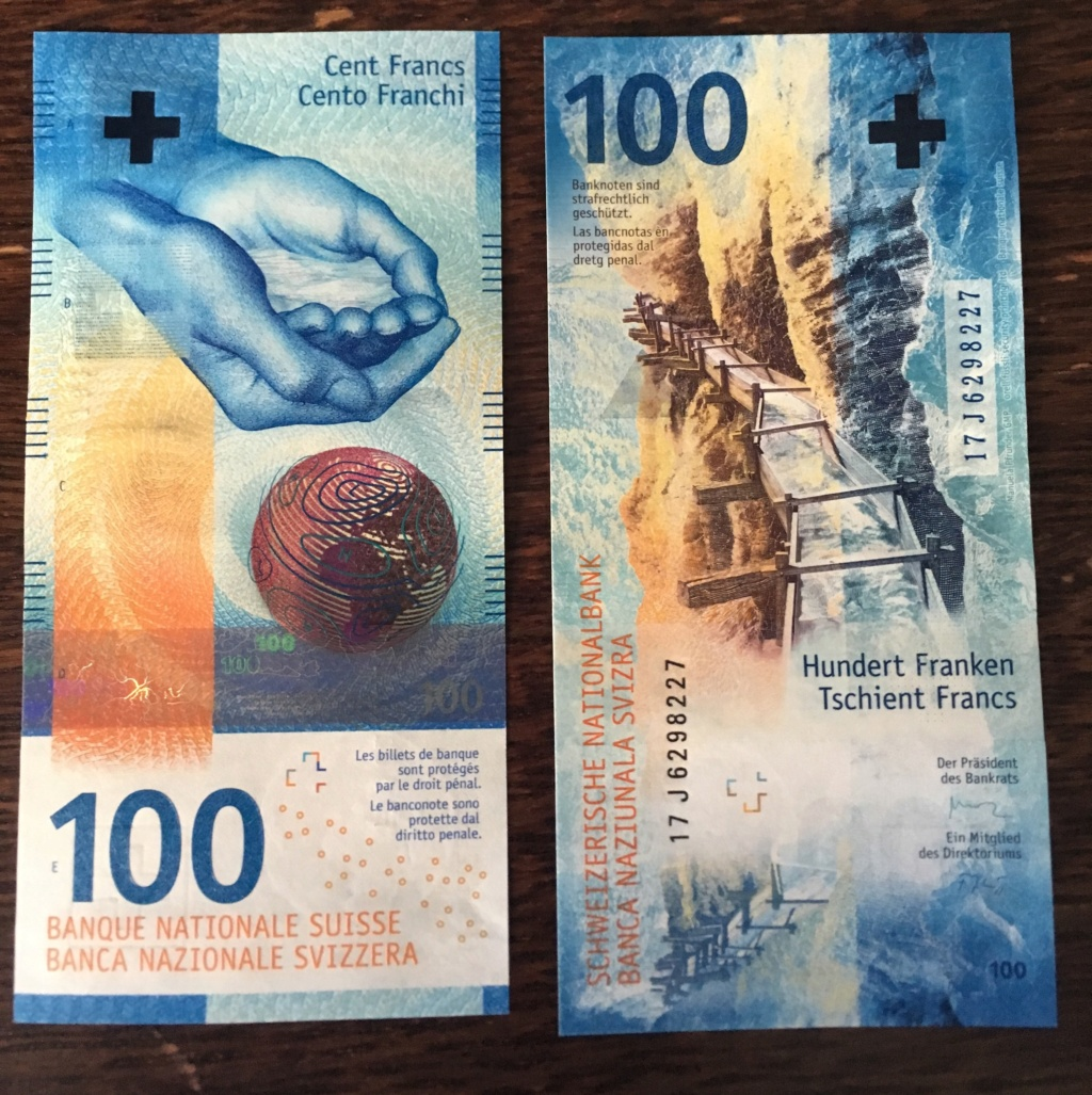 100 Francos Suiza 2019 (2017). Agua 699da310