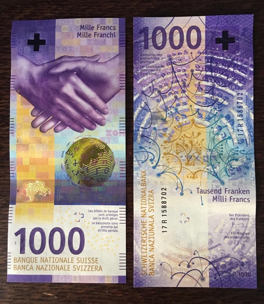 Suiza. 1000 Francos 2017. Nueva Serie 9b583c10