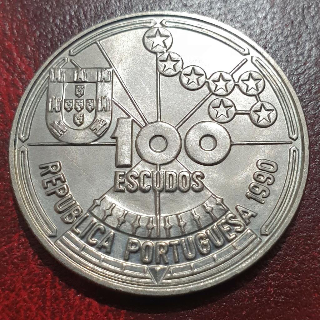 100 escudos de 1990 (Navegação Astronómica) Republica Portuguesa Navast11