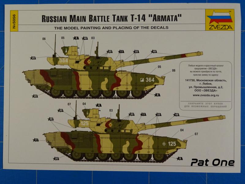 """T-14 """"Armata"""" 1/72 ( Zvezda 5056 ) *** Terminé en pg 2 2020-022"""