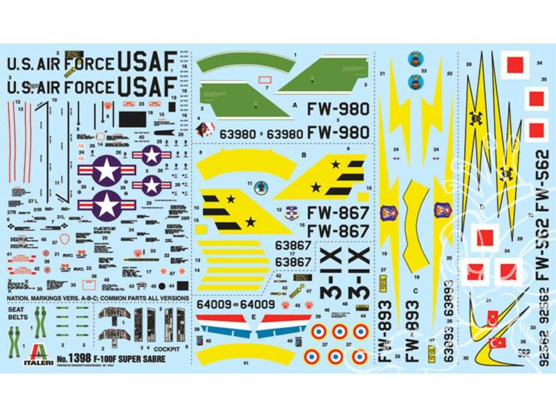 F-100F Super Sabre 1/72 (Italeri 1398) Italer11