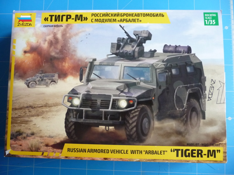 "Tiger-M Russian Armored vehicule with ""Arbalet"" 1/35 ( Zvezda 3683 ) *** Terminé en pg 3 P1290310"