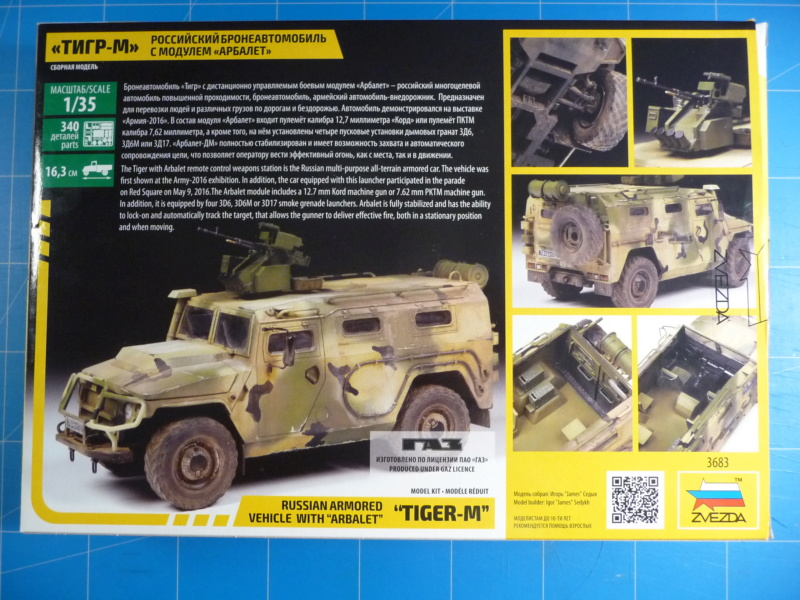 "Tiger-M Russian Armored vehicule with ""Arbalet"" 1/35 ( Zvezda 3683 ) *** Terminé en pg 3 P1290311"