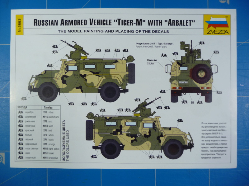 "Tiger-M Russian Armored vehicule with ""Arbalet"" 1/35 ( Zvezda 3683 ) *** Terminé en pg 3 P1290320"
