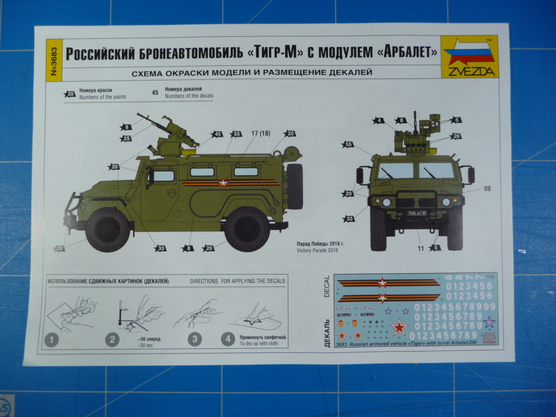 "Tiger-M Russian Armored vehicule with ""Arbalet"" 1/35 ( Zvezda 3683 ) *** Terminé en pg 3 P1290321"
