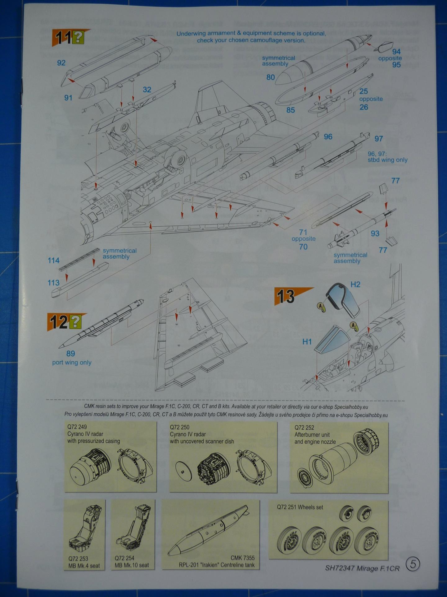 """Mirage F.1CR  ER 02/33 """"Savoie"""" 1/72 (Special Hobby 72347) P1300333"""