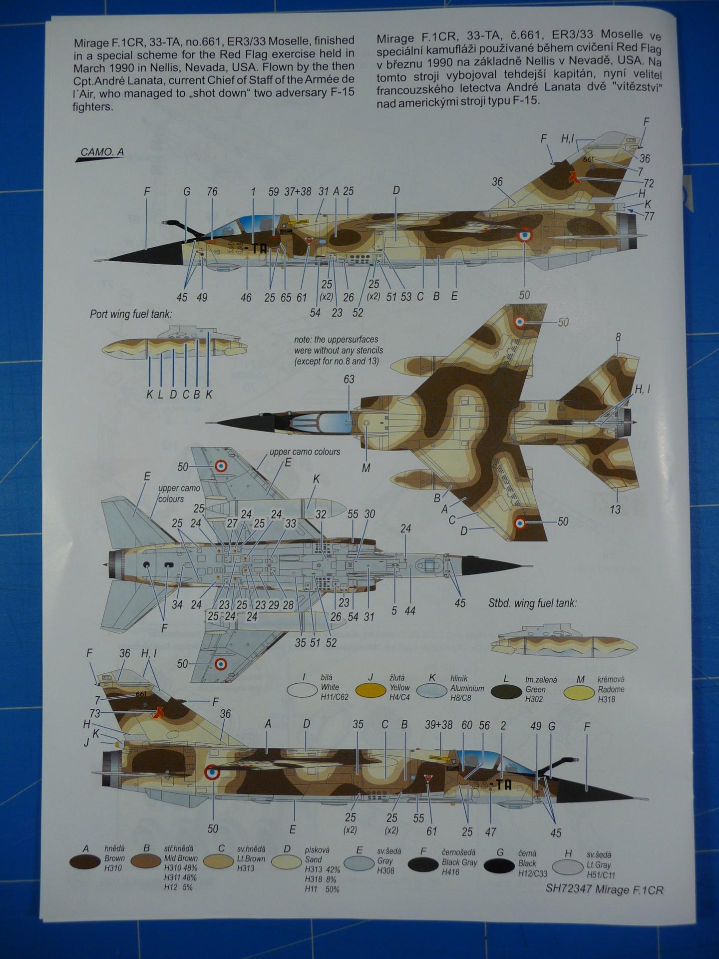 """Mirage F.1CR  ER 02/33 """"Savoie"""" 1/72 (Special Hobby 72347) P1300335"""