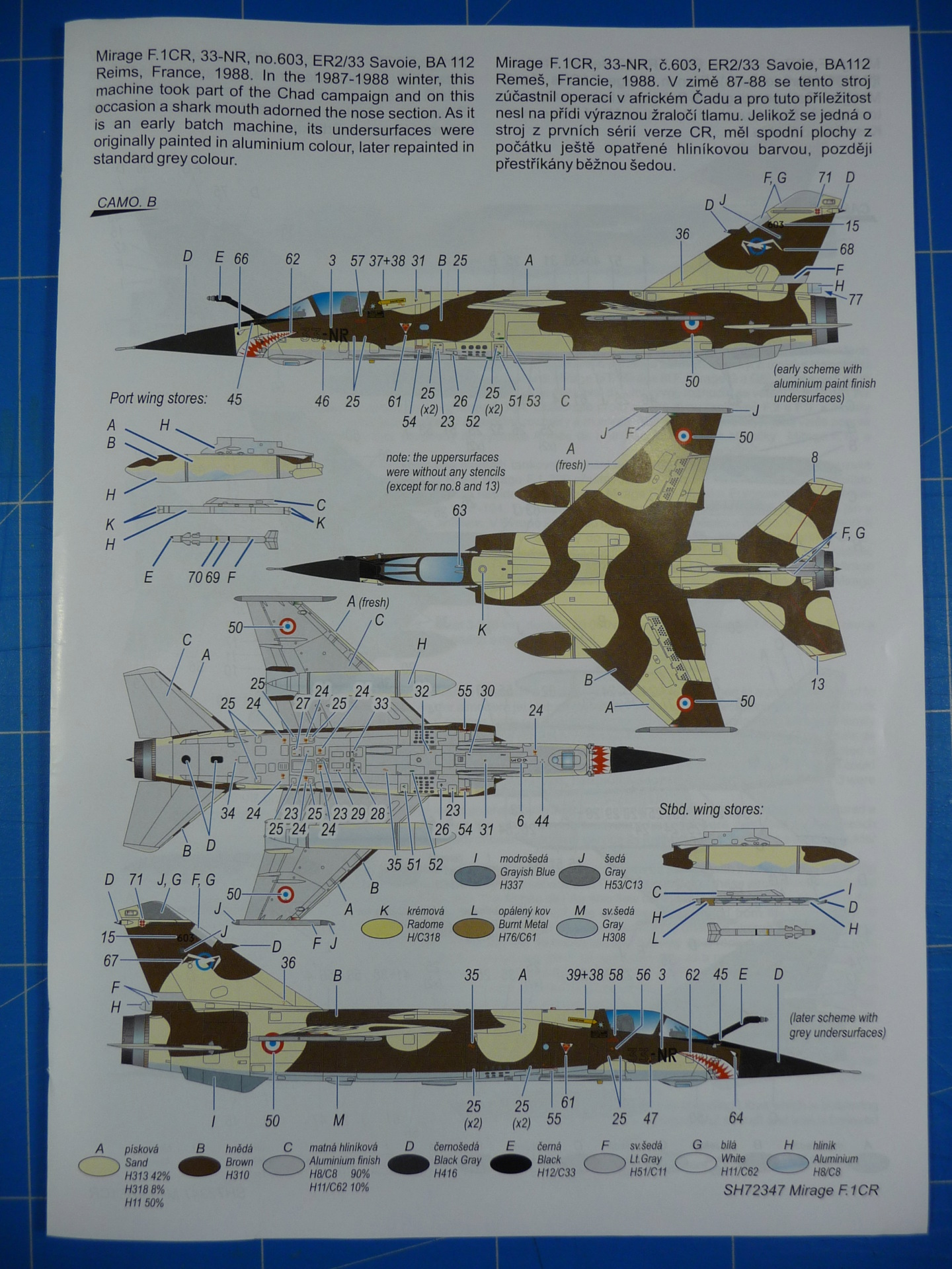 """Mirage F.1CR  ER 02/33 """"Savoie"""" 1/72 (Special Hobby 72347) P1300336"""