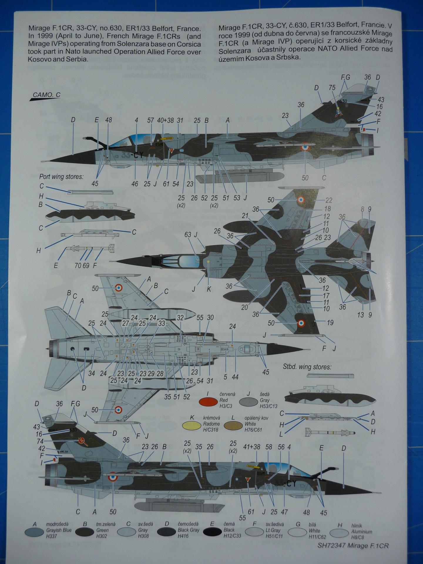 """Mirage F.1CR  ER 02/33 """"Savoie"""" 1/72 (Special Hobby 72347) P1300337"""