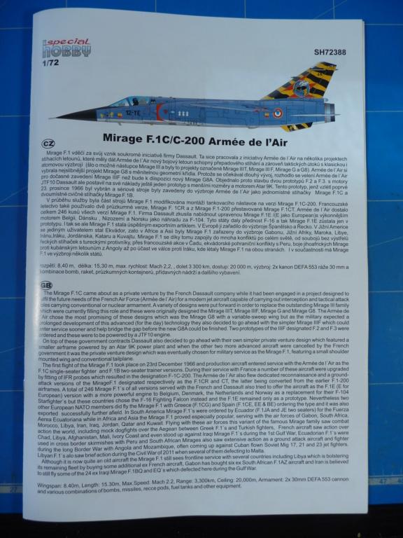 "Mirage F.1C EC 01/30 ""Valois"" 1/72 (Special Hobby 72388) P1300417"