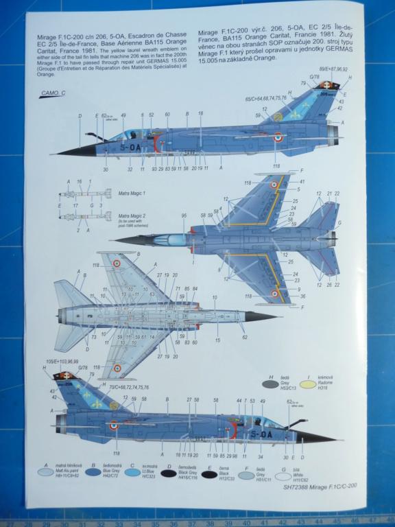 "Mirage F.1C EC 01/30 ""Valois"" 1/72 (Special Hobby 72388) P1300420"