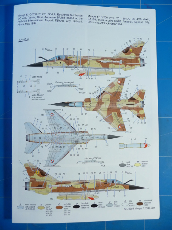 "Mirage F.1C EC 01/30 ""Valois"" 1/72 (Special Hobby 72388) P1300421"