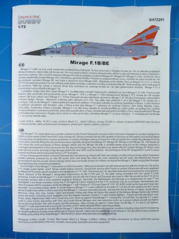 "Mirage F.1B EC 03/30 ""Lorraine"" 1/72 (Special Hobby 72291) P1300423"
