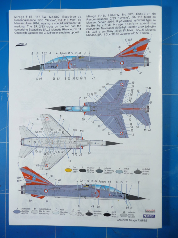 "Mirage F.1B EC 03/30 ""Lorraine"" 1/72 (Special Hobby 72291) P1300424"
