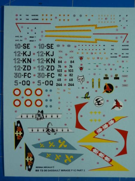 "Mirage F.1C EC 01/30 ""Valois"" 1/72 (Special Hobby 72388) P1300524"