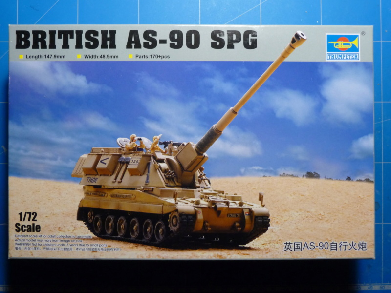 British AS-90 Spg 1/72 (Trumpeter 07221) *** Terminé en pg 2 P1300912