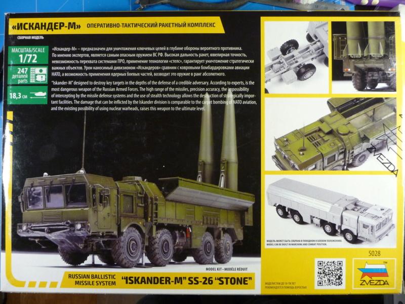 """Iskander-M """"SS-26 Stone"""" 1/72 ( Zvezda 5028 ) *** Terminé en pg 3 P1300919"""
