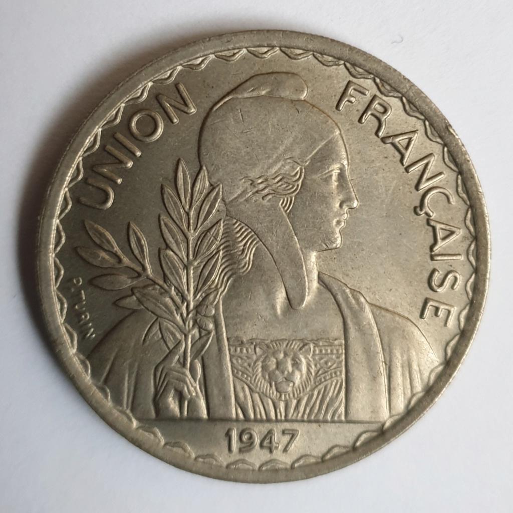 1 piastra Indochina. Federación Francesa. 1947 20190111
