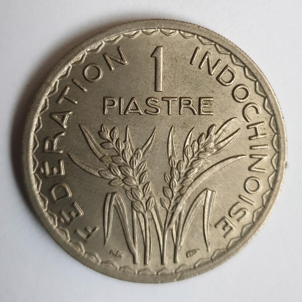 1 piastra Indochina. Federación Francesa. 1947 20190112