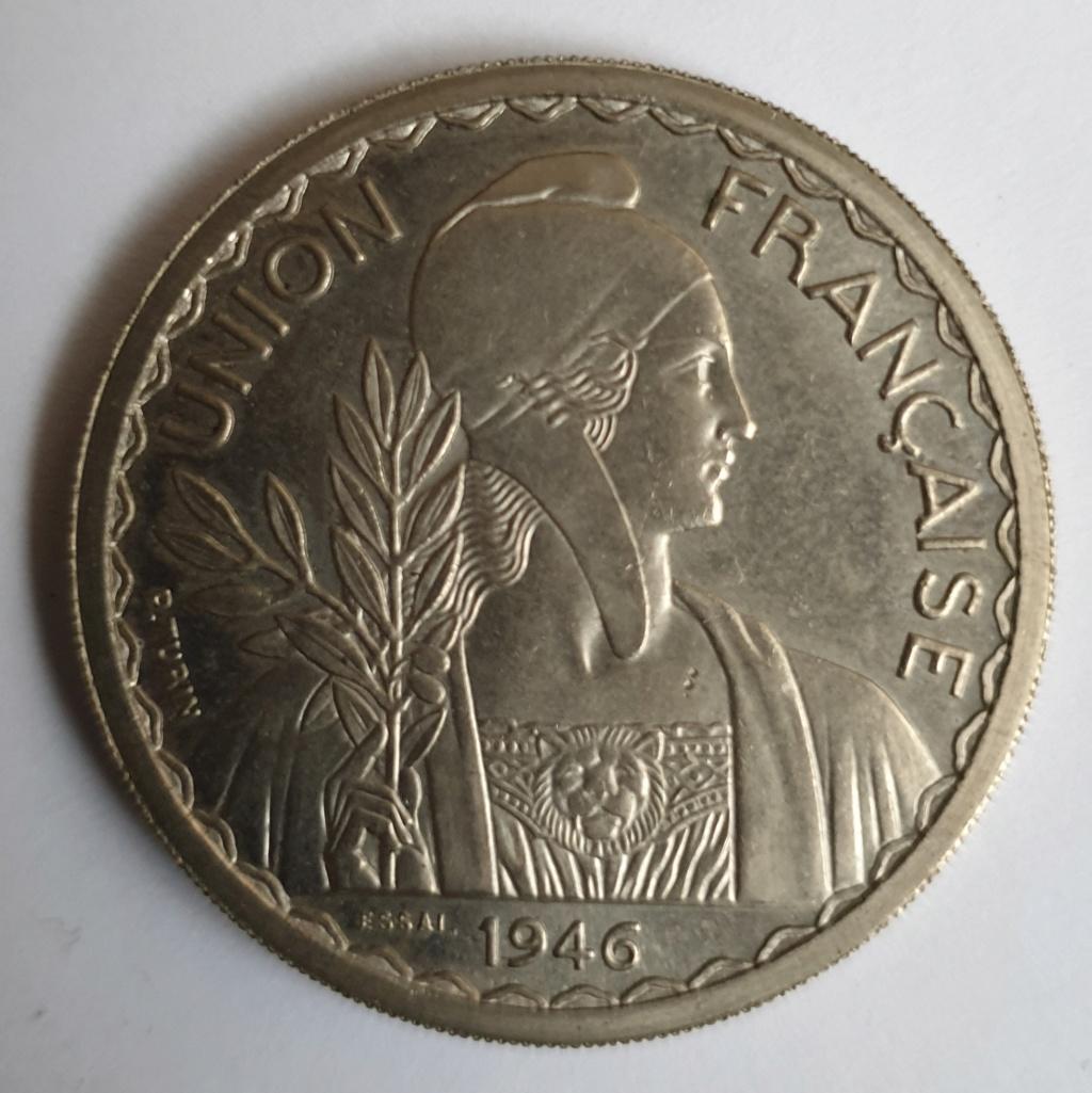 1 piastra Indochina. Federación Francesa. 1947 20190114