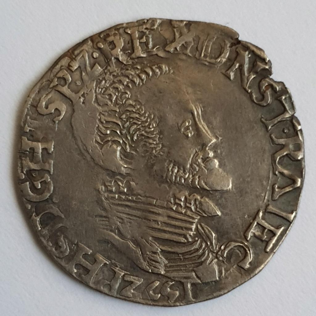 1/5 thaler de Felipe II de Utrecht, 1571 20190211