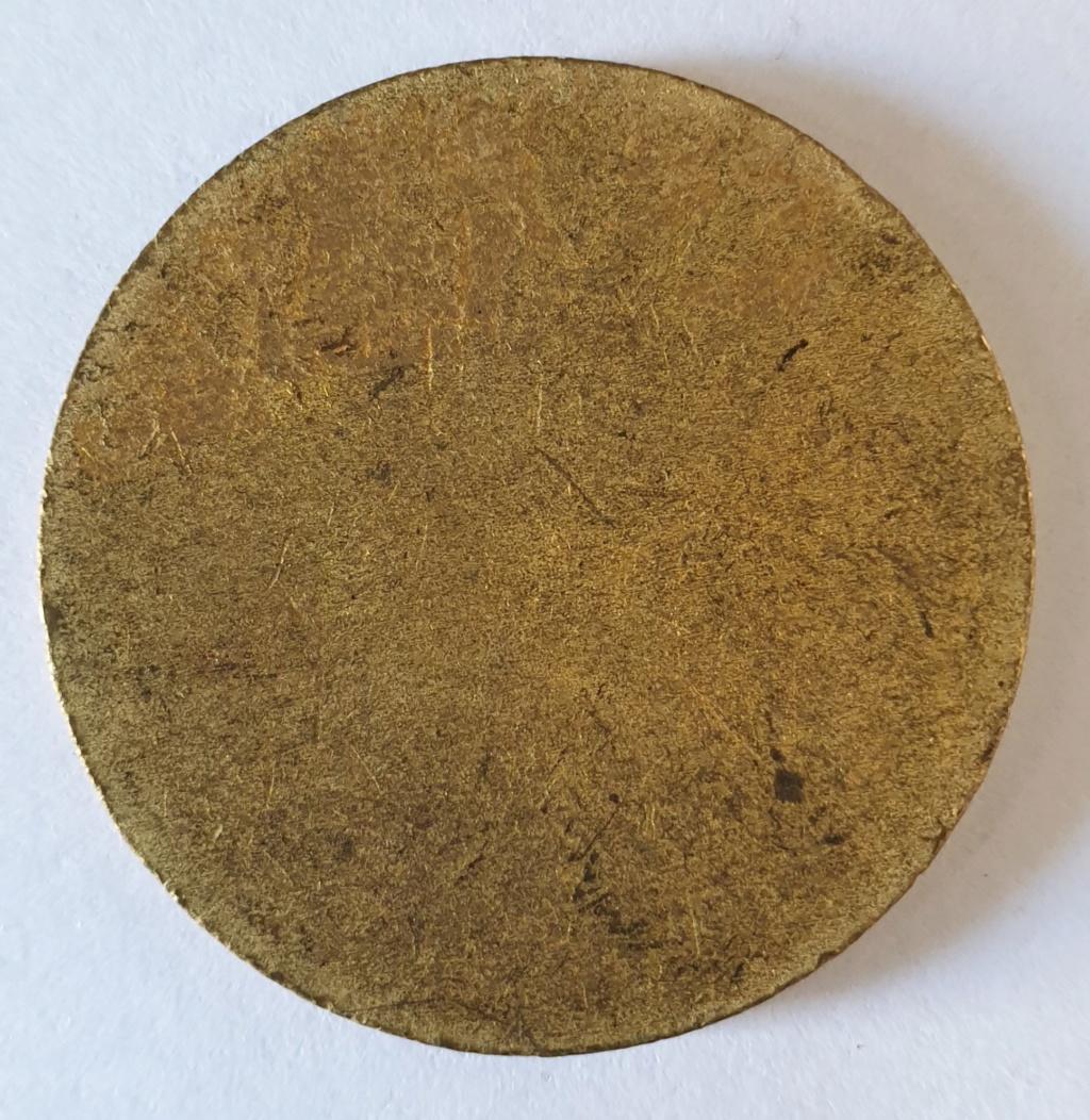 50 centavos de peso 1880. Alfonso XII. Prueba en Latón, Estado Español 20190513