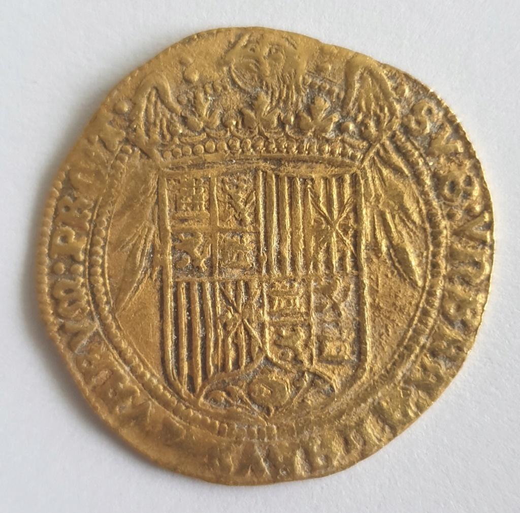 Doble excelente, Reyes Católicos, Sevilla (sin marca de ceca ni ensayador) 20201024