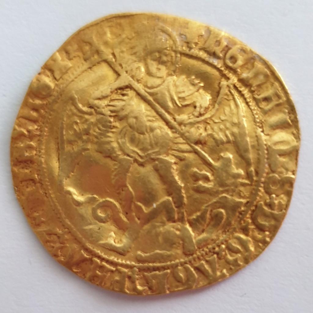Angel o Angelot a nombre de Henrique VIII, ceca de Londres, 1544-1547 20210610