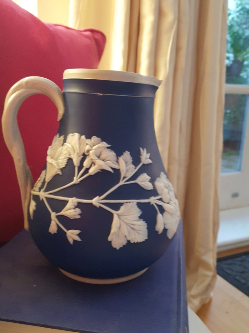 Blue and White Relief Jug - No Manufacturers mark - Any ideas please? 20210610