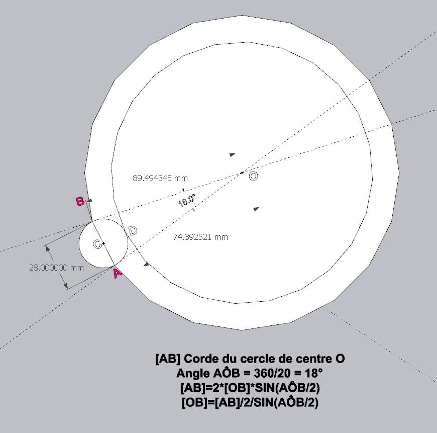 [ SKETCHUP généralité ] Plusiseurs anneaux sur le comntour d'un cercle Calcul12