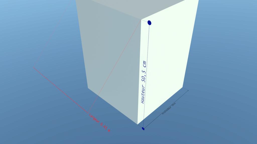 [ SKETCHUP composants dynamiques ] Cotation lineaire pour moteur de rendu Testco10