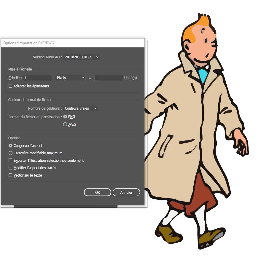 [ SKETCHUP généralité ] Vectorisation Image Tintin11