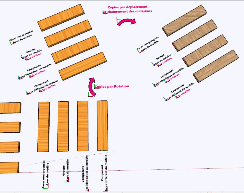 [ SKETCHUP composants dynamiques ]  Matières Uv_mat11