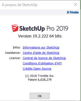 [ SKETCHUP généralité ] sketchup pro 2019  version v19.3.255 Versio10