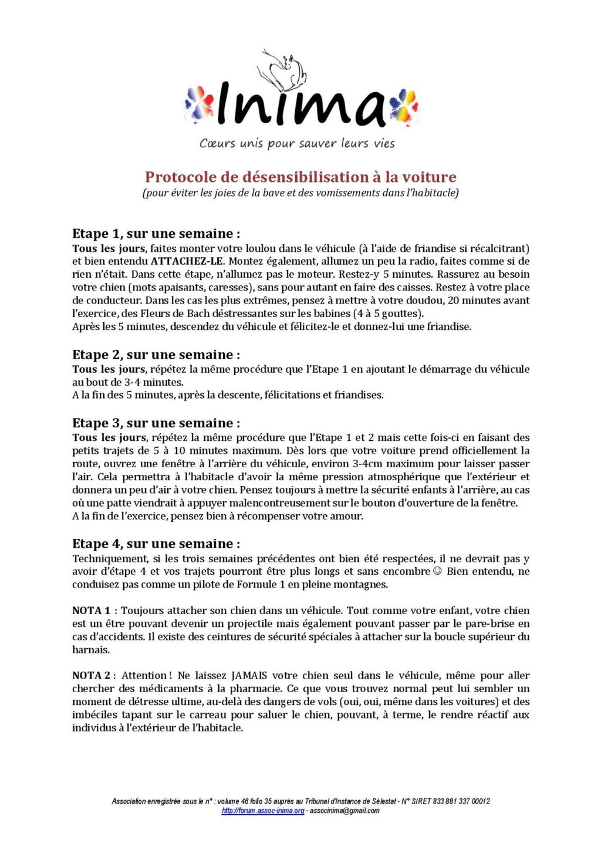 Protocole de désensibilisation au stress des chiens en voiture Protoc10