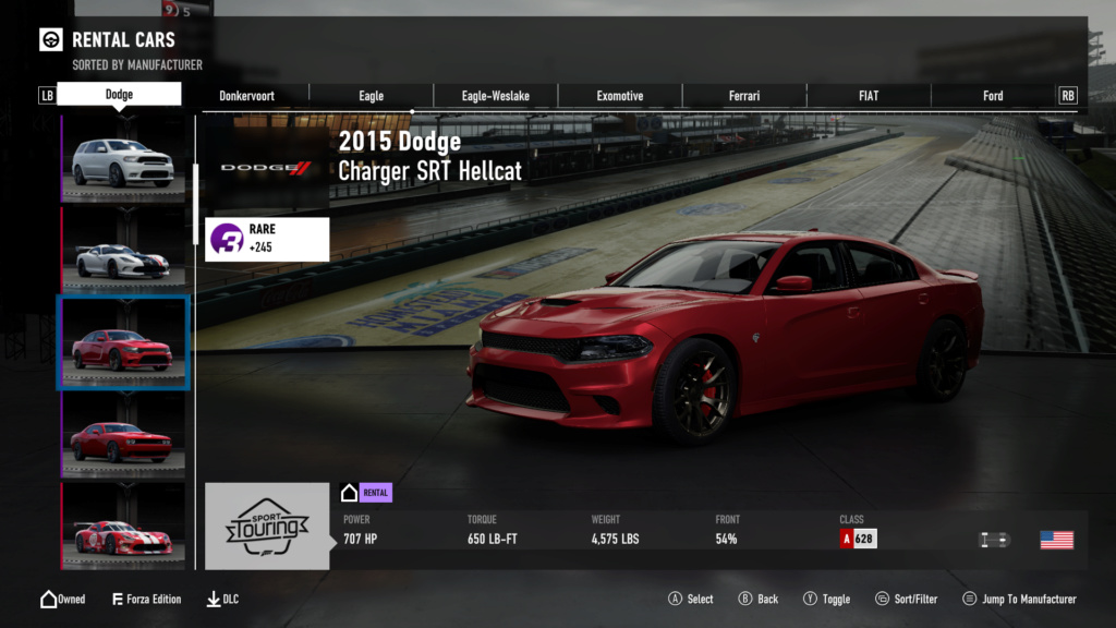 FM7 Time Attack   Stock Car Challenge - 2015 Dodge Charger SRT Hellcat 16-08-10
